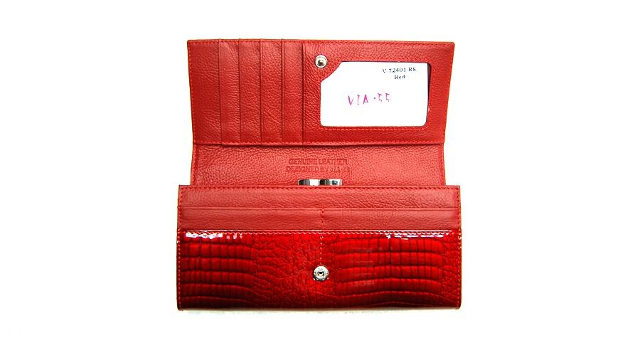 Női pénztárca  VIA55 női pénztárca V72401RSR piros patentos 66ce8fecc5