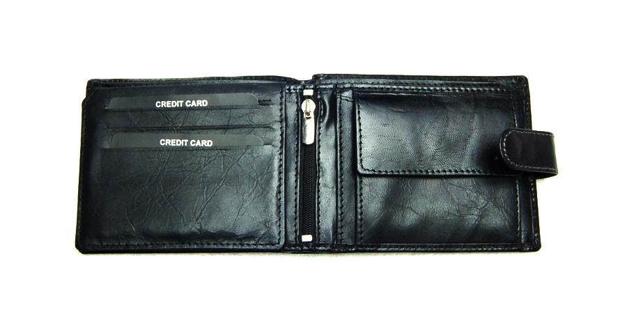 a685c87474 Férfi pénztárca: WILD férfi pénztárca W7LB, fekete valódi bőr